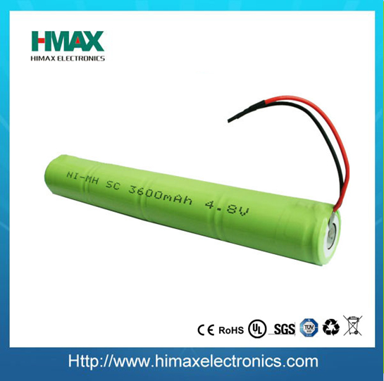 250mAh 4.8V 1/3aa nimh battery pack / Ni-MH rechargeable battery