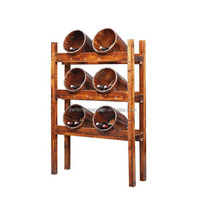 2017 China Suppliers Cabinet Design Retro Antique Style Wooden Vintage Wine Rack