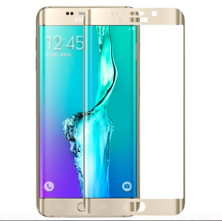 High Quality Mirror 3D Curved Tempered Glass Screen Protector For Samsung Galaxy s6 edge