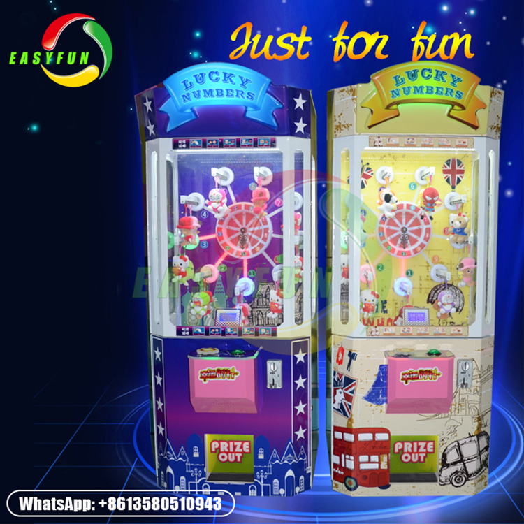 Hot sale Lucky Number Toy Vending Game Machine for entertainment center