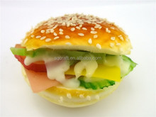 Hamburger food charm handmade PU food accessory,fridge magnet