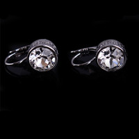 Silver Plated Large Rhinestone Clip-on Earring Jewelry C00747-5400