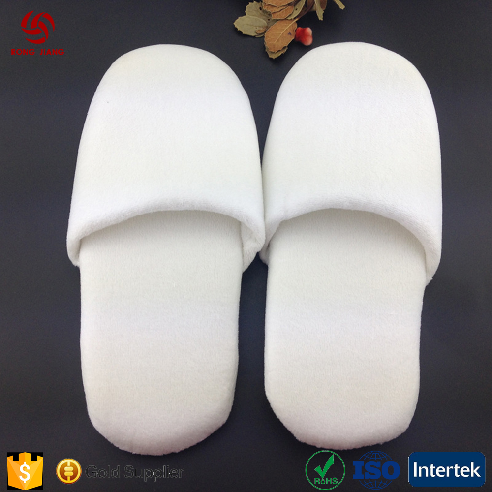 wholesale hotel white slippers and custom cotton hotel home bathroom