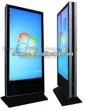 55 inch Double Sided Floor Standing LED Touch All in one Computer With One Mini PC Inside