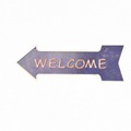 WELCOME arrow sign embossed garden signs