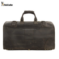 Designer Wholesale Vintage Style Genuine Leather Duffle Bag Italian Leather Luggage Bag Vintage Leather Carry on Luggage3151