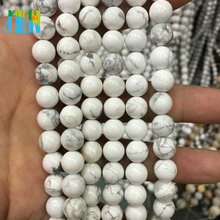 AAA Quality 10mm Round Smooth Natural White Howlite Polish Semi Precious Stone