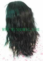 "Top quality 5A grade 18"" natural color malaysian virgin full lace wigs"