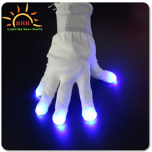 New product 2016 funny design lighting up multicolor gloves