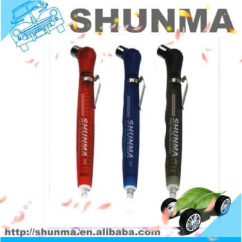 HOT, novelty, low pressure, pencil tire gauge, translucent plastic, with clip, SMT1172