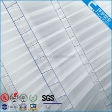 3 wall PC transparent polycarbonate hollow policarbonato sheet with UV protection