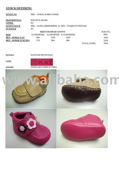STOCKLOT BABY SHOES