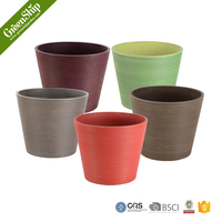 Decorative Garden Mini Terracotta Pots Wholesale From Greenship/ 20 years lifetime/ lightweight/ UV protection/ eco-friendly