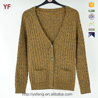 V Neck Designs Cable Knit School Cardigan Sweaters