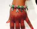 Alpha Kapp Alpha wholse alloy AKA beads sorority bracelets for girls and women greek letter Bracelet