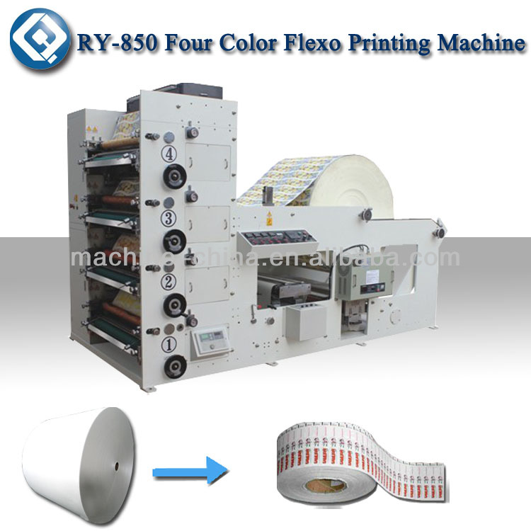 RY-850 Paper Cup Printing Machine Price,4 Colour Flexo printing Machine