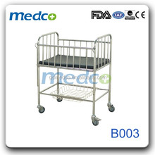 Medco B003 stainless steel baby bed cot,baby hospital bed for sale