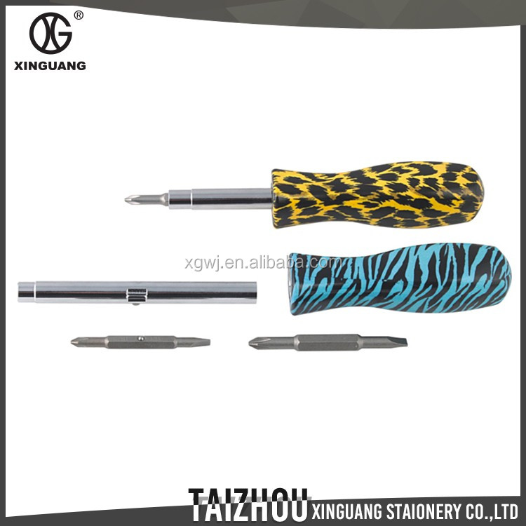 New Developing metal printed floral mini screwdriver