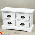 Retro White Solid Mini Wood Chest of Drawers