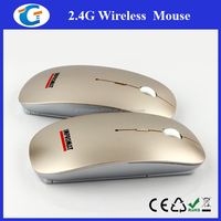 Wireless Golden Promotion Mouse With Custom