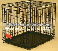 Double Door Folding Dog Crate Cage