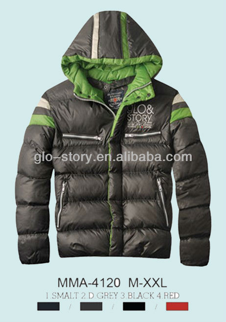 Glo-story 2014 urban wear men winter jacket
