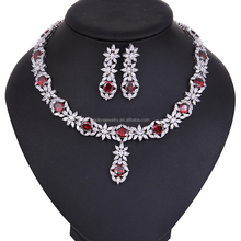 Indian bridal jewelry sets jodha akbar jewelry set AAA CZ stone diamond 18k gold plated wedding jewelry set