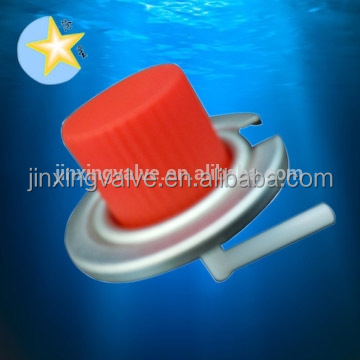 1 inch portable gas stove valve with red caps/lpg gas cylinder valve/BBQ grill spray can valve