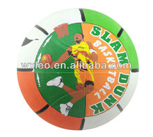 Custom LOGO Rubber sport colorful street basketball factory