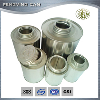 4oz/8oz/16oz/32oz metal tin can pvc/cpvc/upvc solvent cement round empty cans trade assurance service