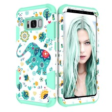 Hybrid Case PC Robot Case Frame Slim <strong>Protective</strong> For Samsung Galaxy S8 Elephant