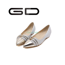 GD small women leisure shoes pointed toe no heel fashion shoes novelty cut out shoes