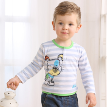 MS62387C latest design cotton striped spring 2015 baby t shirt