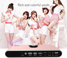 3D led projector 3000 lumens 1080P DLP home theater 300 inch wireless mini projector with 3300mah battery