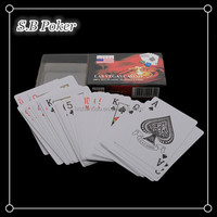 Single pack playing cards in PP/PVC box