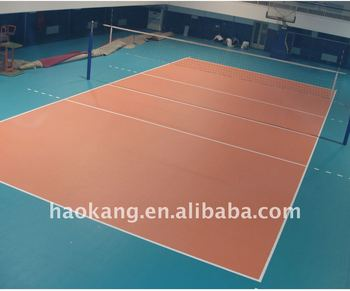 Volleyball PVC vinyl sports court flooring