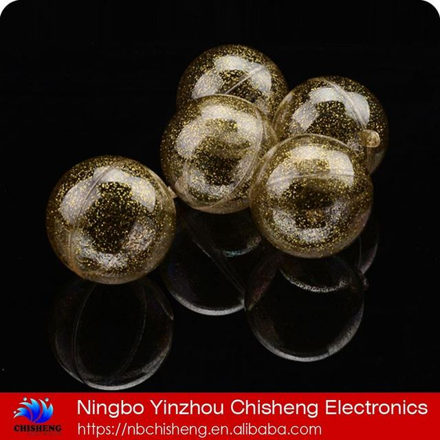 All new material 200mm clear glow in the dark shape container transparent plastic crystal ball