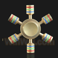 Colorful Six Fidget Hand Spinners