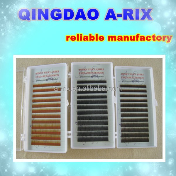 No.19 minky silk black brown made in korean eyebrow extensions
