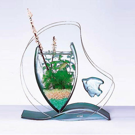 Acrylic clear tabletop innovative design aquarium fish tank from China factory