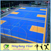 PP suspended interlocking sports floor used for outdoor sports court futsal court