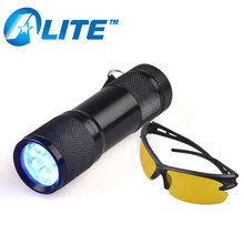 UV LED Large Coverage Area Black Light 100 Leds Ultraviolet UV Torch Best Scorpion Purple Light Scorpion UV Flashligh