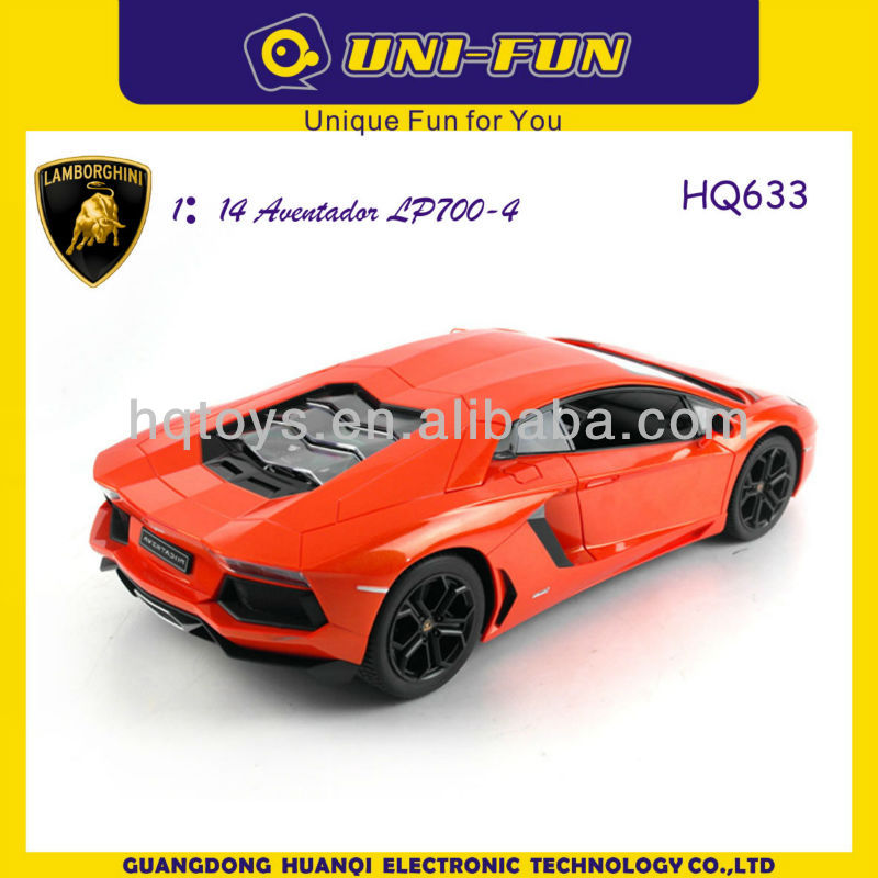 HQ633 1 14 scale remote control car lamborghini Aventador LP700-4 Roadster RC music Car,Authorization rc toy