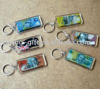 promotional australia money acrylic keychain note key chain for AU