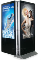 "dual screen floor stand touch kiosk,Double screen Digital Signage double sides Digital Signage 42"" 46"" 55"""