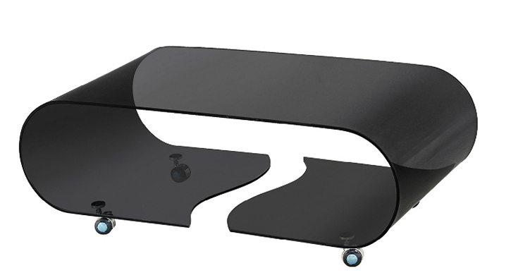 black glass coffee table with wheels bending glass table furniture