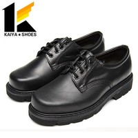 Cow Genuine Leather Black Army Military