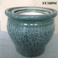 Mosaic green color large outdoor planters