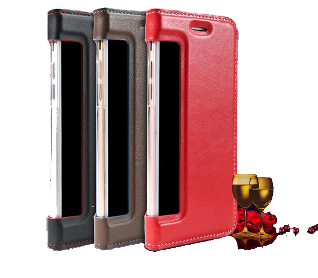 Customized Flip Case Wallet Leather Case Cover with logo hole for blackberry 9300 Q20 Z5