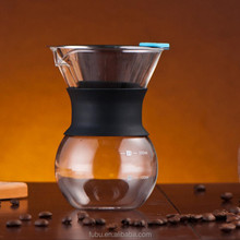 BPA Free Pour Over Coffee Dripper 1-4 Cups (Size 02 ) Glass Assemblable Coffee Filter for Coffee Server or Dripper Holder